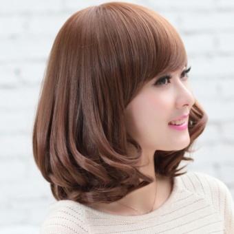 Tóc giả nữ ngắn Hàn Quốc siêu siêu đáng yêu TG6 ( NÂU ĐẬM )