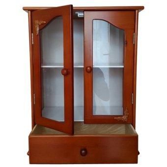 Tủ thuốc gia đình gỗ cao su NHF-021 (Vàng cánh gián)