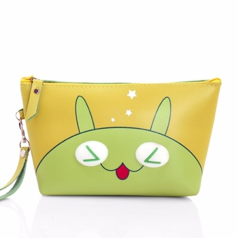 Túi đựng mỹ phẩm simili Thỏ Xanh dễ thương