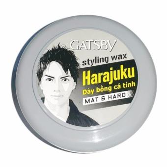 Wax tạo kiểu tóc Gatsby Harajuku Styling Mat & Hard Đen Xám 75g