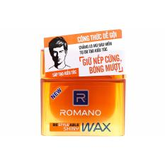 Wax vuốt tóc Romano Giữ nếp cứng, bóng mượt 68g (cam)