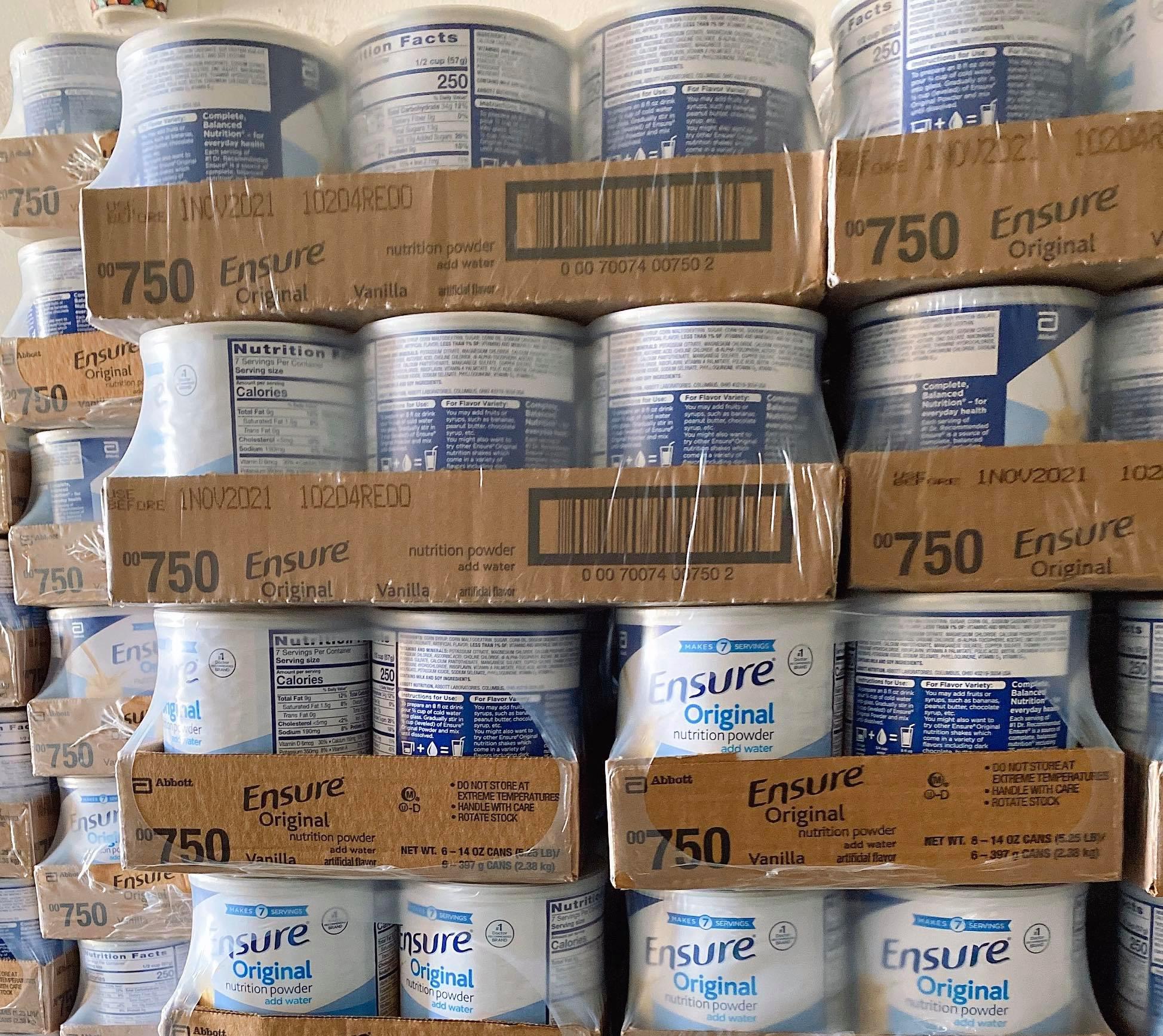 Thùng 6 Lon Sữa Ensure Original Nutrition Powder 397G Mỹ