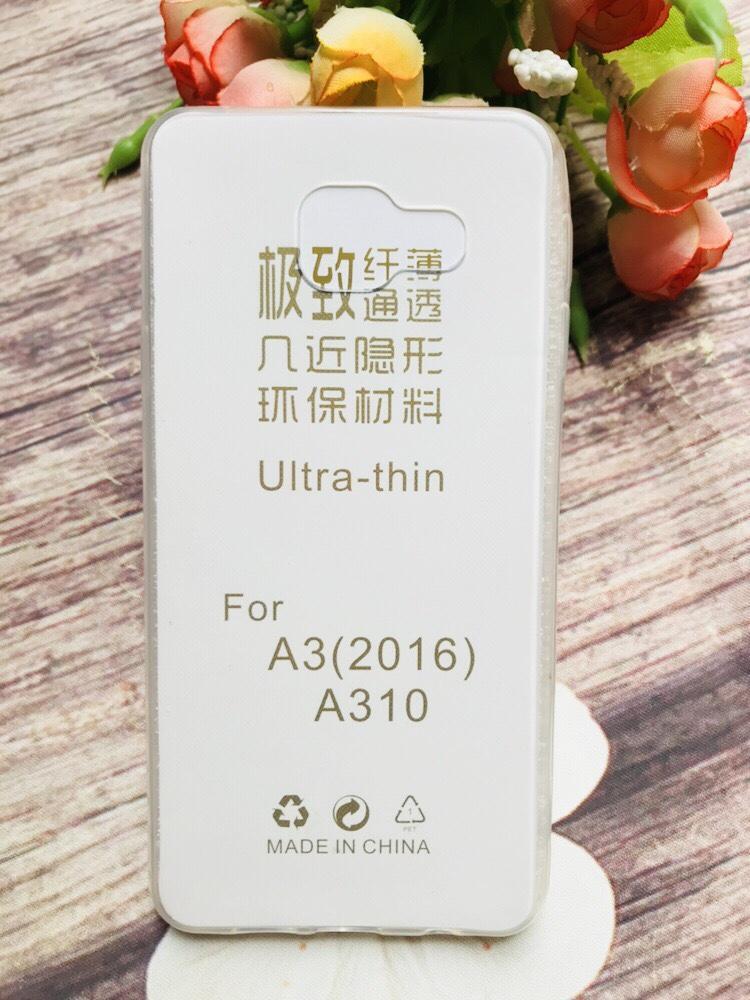 Ốp lưng silicon 0.33 dẻo trong suốt cho Samsung Galaxy A3 2016 - A310