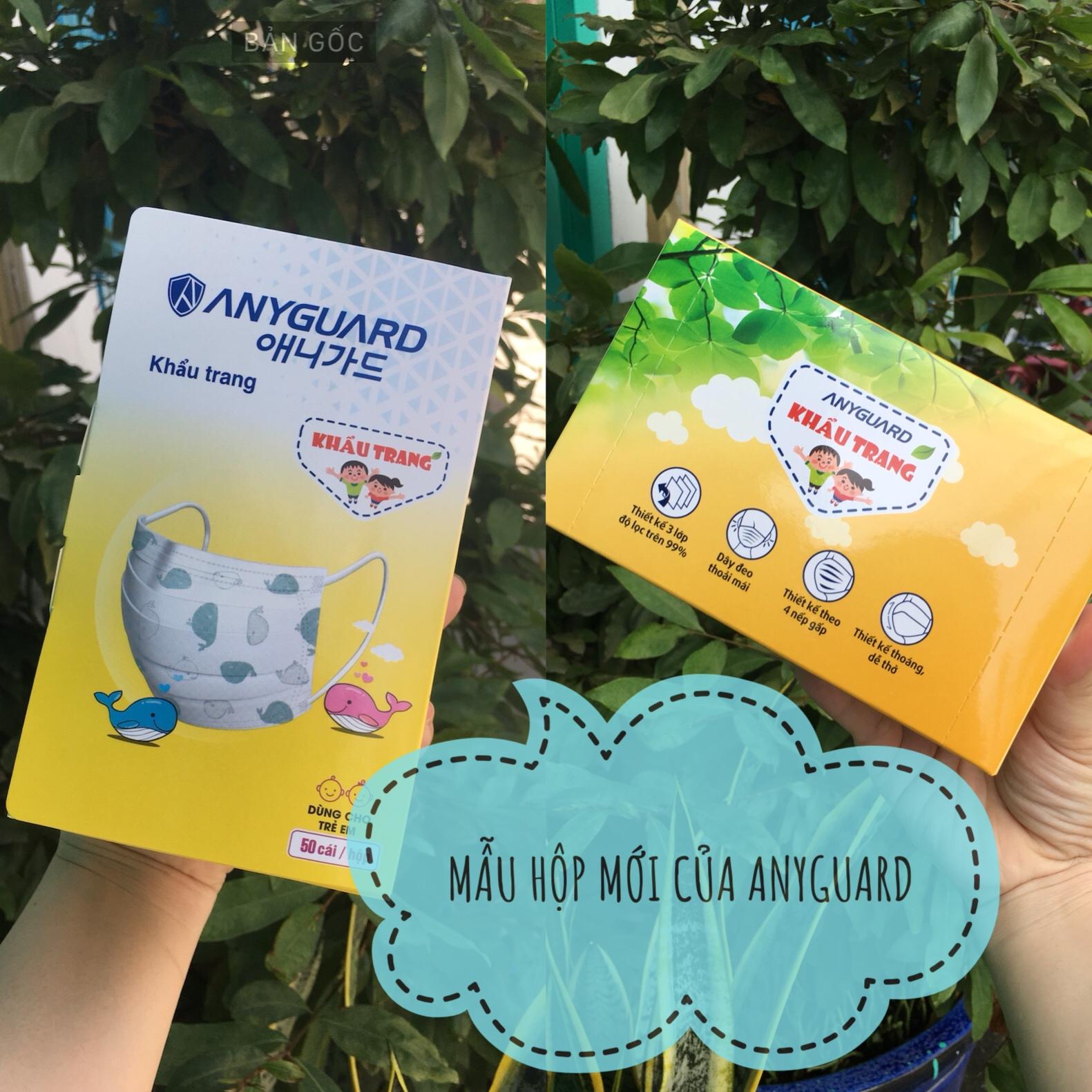 Hình ảnh [CHÍNH HÃNG - NEW VERSION] Hộp 50 cái khẩu trang y tế ANYGUARD an toàn cho bé sản xuất theo công nghệ Hàn Quốc -50 pieces face mask Anyguard for kids