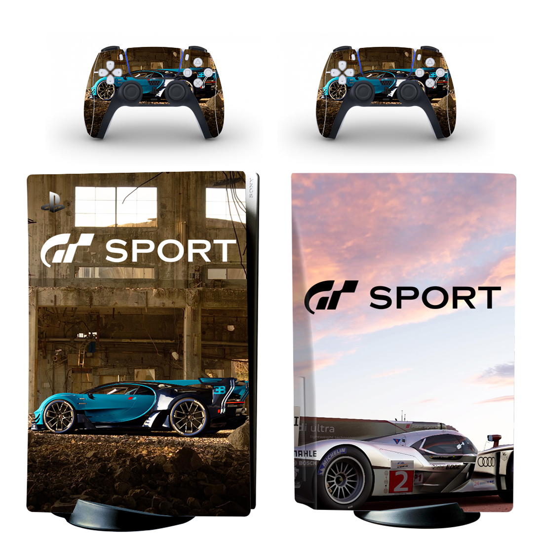 GT Sport PS5 Standard Disc Skin Sticker Decal Cover for PlayStation 5 Console & Controller PS5 Skin Sticker Vinyl