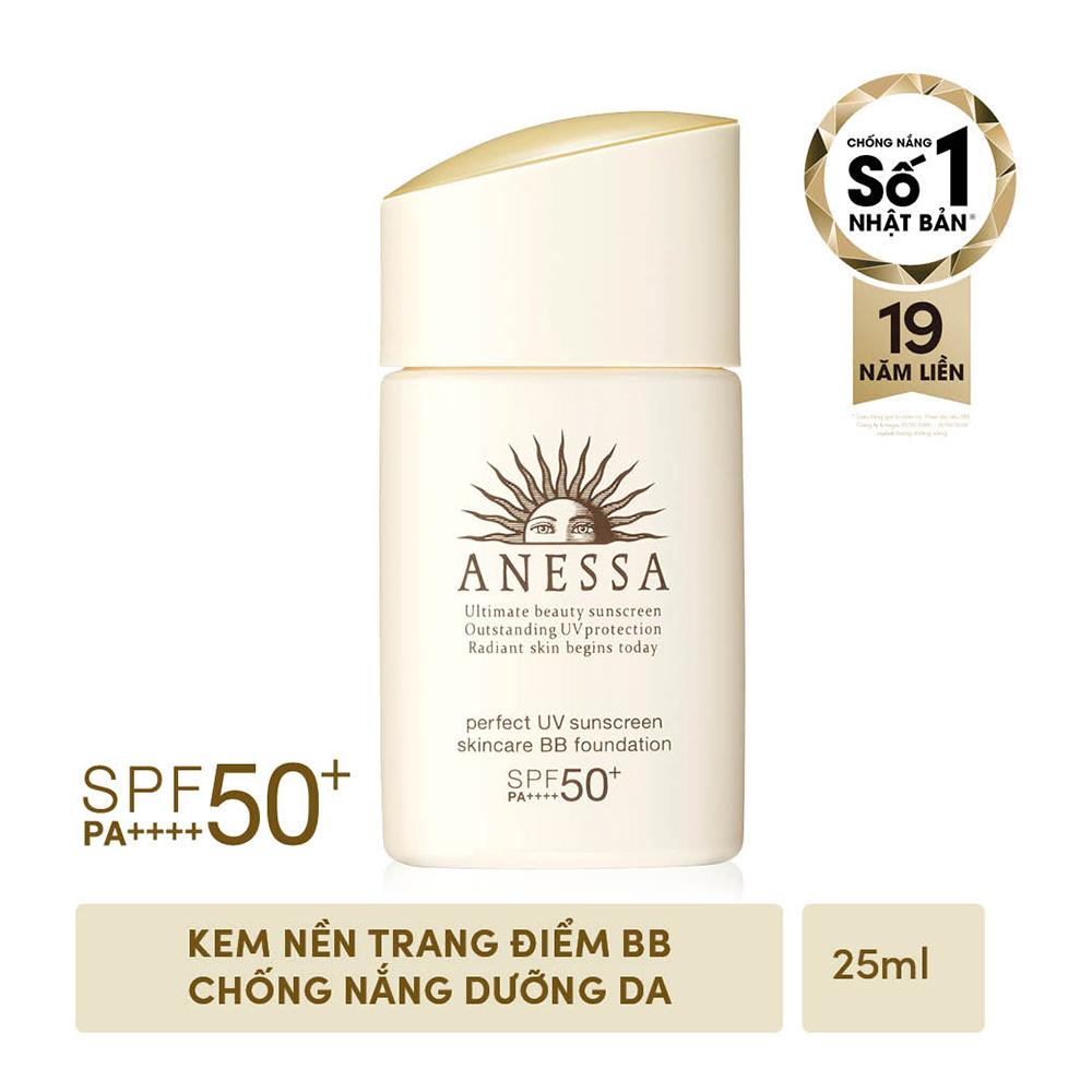 Kem nền trang điểm BB chống nắng dưỡng da ANESSA Perfect UV Sunscreen Skincare BB Foundation SPF 50+ PA++++