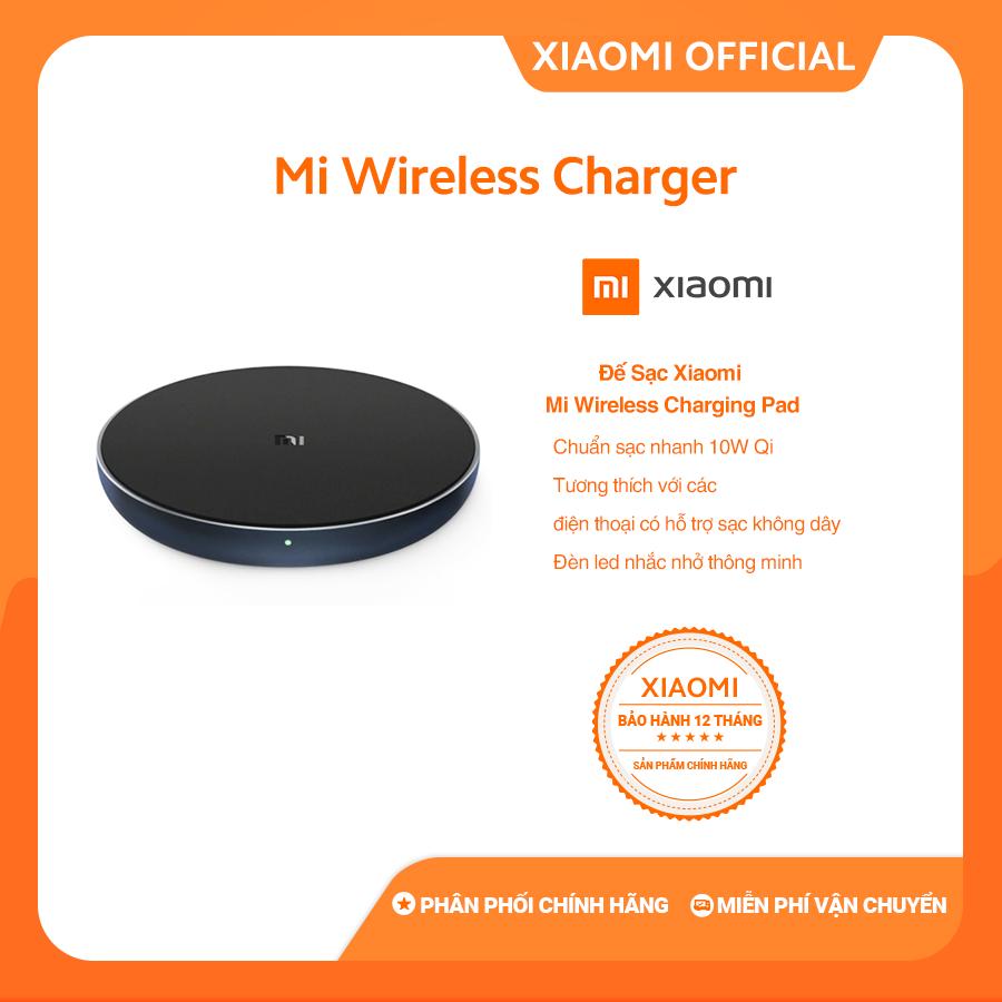 [XIAOMI OFFICIAL] Đế sạc không dây Xiaomi official Mi Wireless Charging Pad - Chuẩn sạc Qi , thiết kế chống trượt - Bảo hành chính hãng  12 tháng