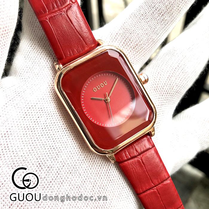 Đồng hồ Nữ GUOU Dây Mềm Mại đeo rất êm tay, Chống Nước Tốt, Bảo Hành Máy 12 Tháng Toàn Quốc 14