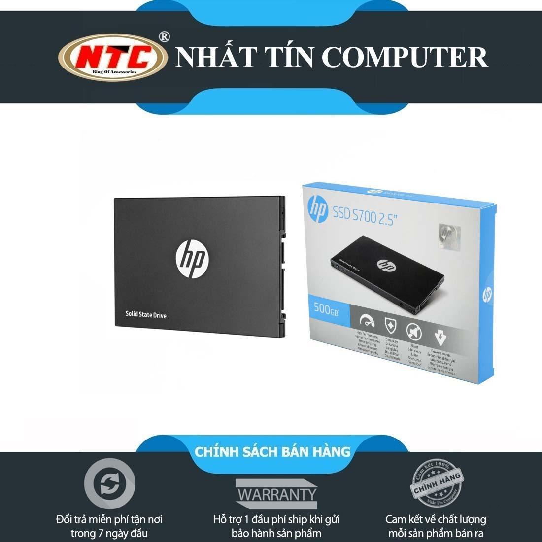 Ổ cứng gắn trong SSD 2.5 HP S700 500GB chuẩn SATA III 3D-TLC - Box Anh (đen)