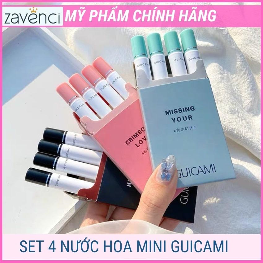 Set nước hoa mini nữ thơm lâu dạng xịt mùi hương thanh lịch trẻ trung quyến rũ nữ tính tiện lợi (4 thanh 5ml)