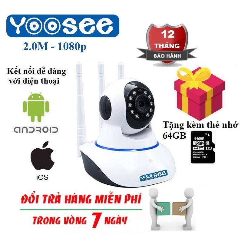 Tặng Kèm Thẻ Nhớ 64GB Trị Giá Lên Tới 200k - Camera YOOSEE IP Wifi - Giám Sát Thông Minh - Độ Phân Giải Full HD 1080p - Đàm Thoại 2 Chiều