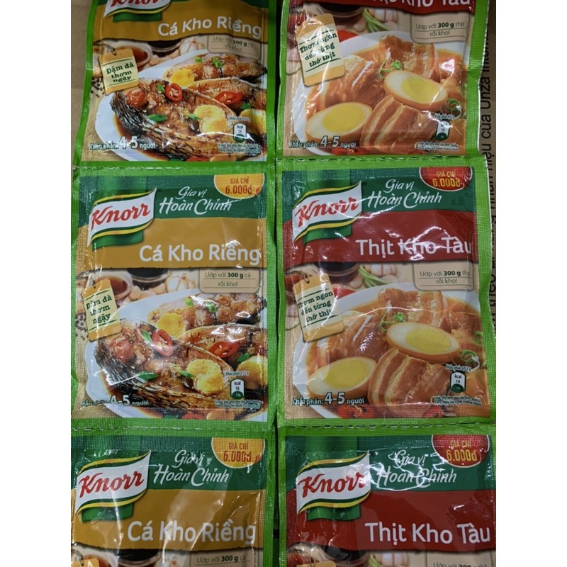 Gia Vị Hoàn Chỉnh Knorr Thịt Kho Tàu/ Cá Kho Riềng 28G / 1 Gói - 1 gói kho cá
