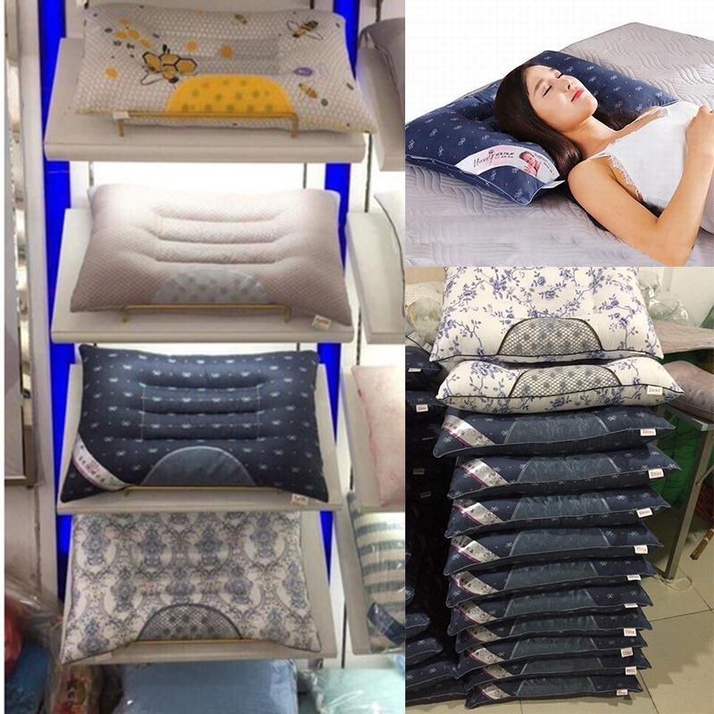 (COMBO 2 GỐI) Gối Massage Thảo Dược Tự Nhiên Chống Đau Mỏi Vai Gáy - Chất Liệu Cotton 100% Cực Mềm Mịn Thoáng Mát- Chất Liệu Bông Đàn Hồi Loại Tốt - Có Khóa Kéo Tiện Lợi - Màu Sắc Tươi Tắn