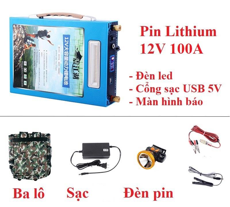 Pin lithium 12V - 100Ah - Pin lithium 12V - 100Ah - Tây Nguyên Shopping phụ kiện chuyên dành cho xe ô tô