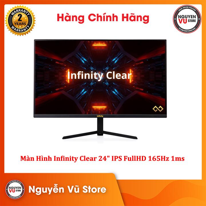 """Màn hình Gaming Infinity Clear 24"""" IPS FullHD 165Hz 1ms Pro Gaming LCD - Hàng Chính Hãng"""