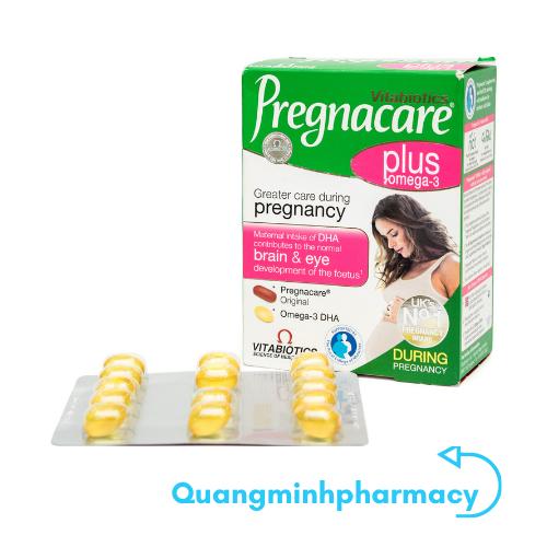 Viên uống bổ sung vitamin, khoáng chất cho bà bầu Vitabiotics Pregnacare Plus Omega 3 56 viên