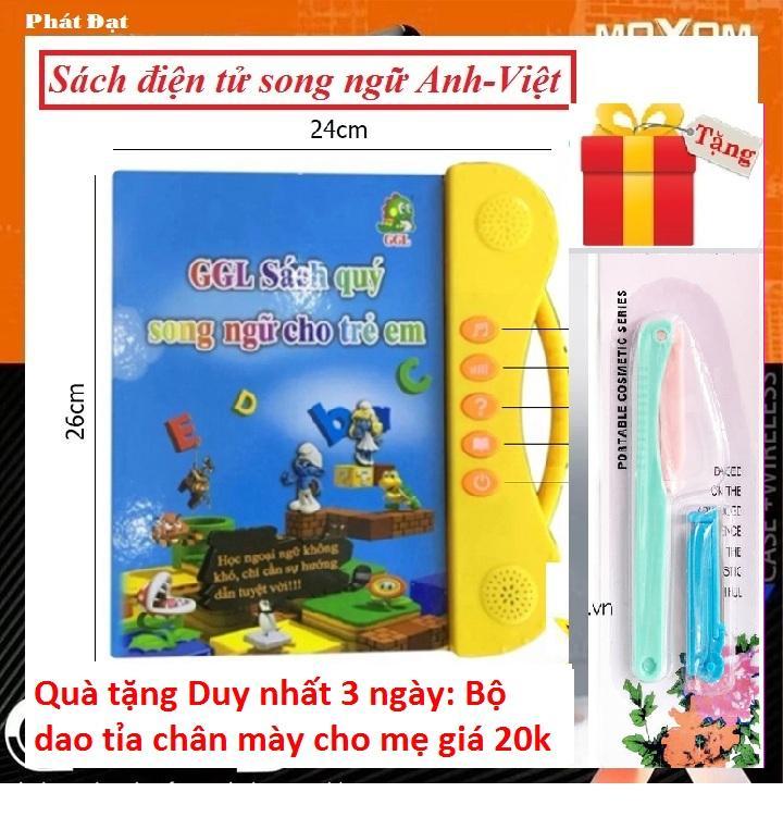 (Thêm Quà tặng cho mẹ Bộ dao tỉa chân mày giá trị 20K) Sách Điện Tử Thông Minh Cho Bé Sách Song Ngữ Cho Bé học tiếng anh SÁCH ĐIỆN TỬ SONG NGỮ ANH - VIỆT