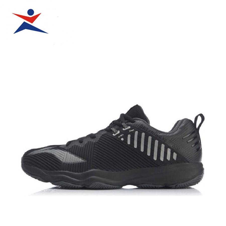 Giày cầu lông nam, giày thể thao Li-Ning AYTP031-1 cao cấp thiết kế chuẩn form bàn chân Việt dành cho nam màu đen đủ size