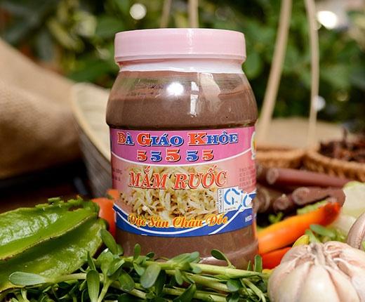 Hình ảnh Mắm ruốc Bà Giáo Khỏe 5555 hủ 500gr đặc sản Châu Đốc Không sử dụng hóa chất phẩm màu độc hại
