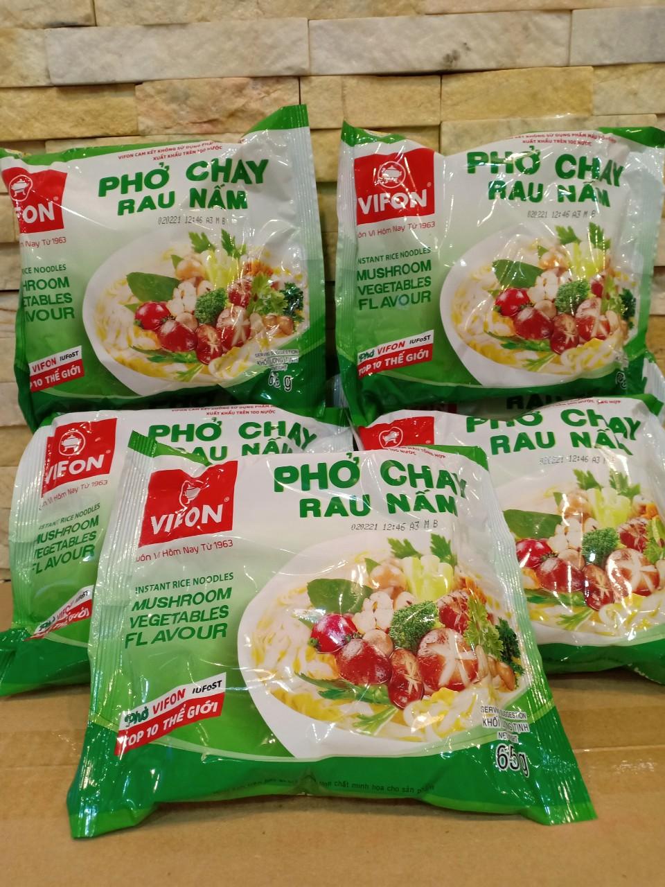 PHỞ CHAY  RAU NẤM VIFON 65 GAM/GÓI