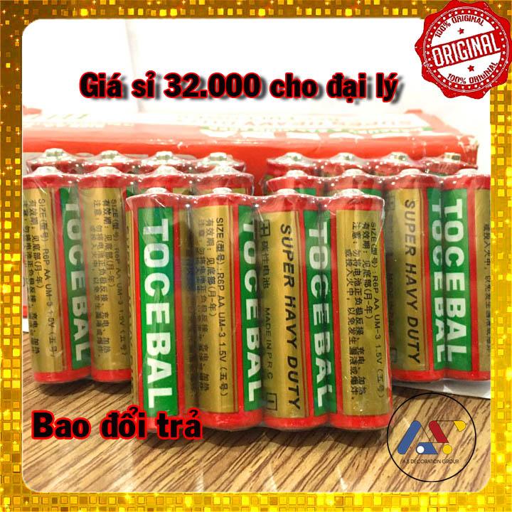 Pin Tocebal AA - Pin 2A - Cam kết Pin khoẻ - Hộp 40 viên