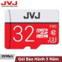 Thẻ nhớ 32G Class 10 U3 JVJ Pro microSDHC tốc độ cao 95MB/s chuyên dụng cho camera wifi, camera hành trình, điện thoại, máy chơi game, chất lượng hình ảnh 4k tặng kèm gói bảo hành 5 năm đổi mới trong vòng 7 ngày, thẻ 32Gb