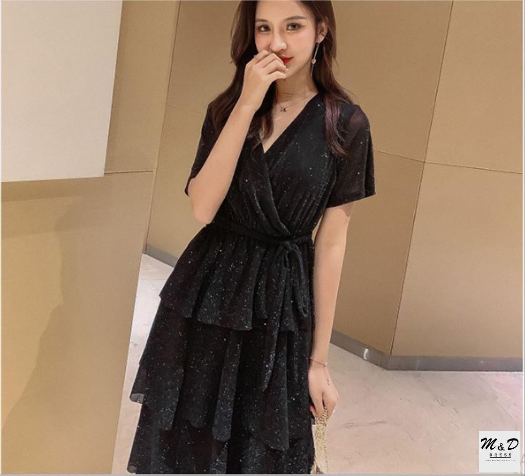 HÀNG CAO CẤP-Đầm xòe đẹp, váy tầng dễ thương, mềm mịn, dự tiệc, dạo phố, công sở, nữ tính, sang trọng - 0SLP