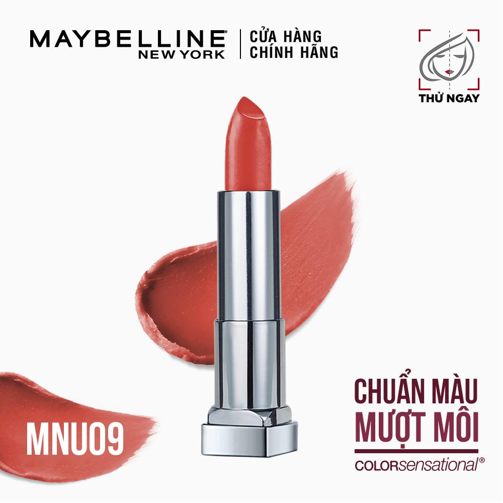 Son Lì Mịn Môi Tông đất Maybelline New York Color Sensational Inti-Matte Nude Lipstick 3.9g