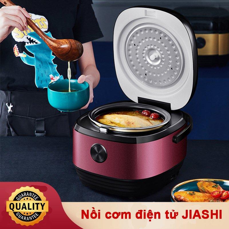 Hình ảnh Nồi cơm điện tử đa năng JIASHI 3L - Noi com dien gia đình cho 2-3 người ăn, lòng nồi phủ lớp chống dính - Có 8 chức năng nấu như hẹn giờ, nấu chá, hầm canh, làm bánh - Bảo hành 6 tháng - Hàng chính hãng