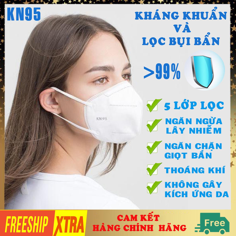 [Hộp 10 chiếc HÀNG CAO CẤP] Khẩu trang Y Tế màu trắng 5 lớp KN95 N95 không van chống bụi kháng khuẩn DONAFA