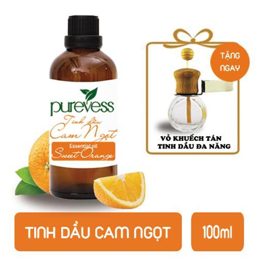 Tinh dầu Cam Ngọt PUREVESS ( 100ml ) | Giúp giảm stress, trấn tĩnh tinh thần, chống say xe