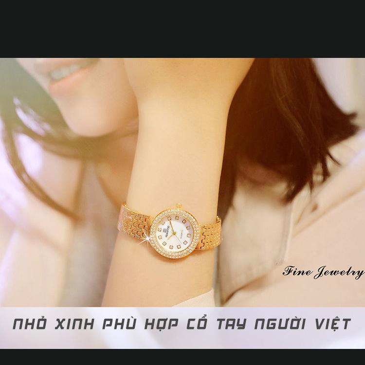 Đồng hồ nữ ROMATIC Mặt Xà Cừ Nhỏ Xinh Sang Trọng - Máy Nhật cao cấp - Tặng Kèm Pin ĐH Dự Phòng 3