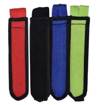 1 Pair Fixed Gear Fixie BMX Bike Anti-slip Double Adhesive Straps Pedal Strap Belt Black - intl