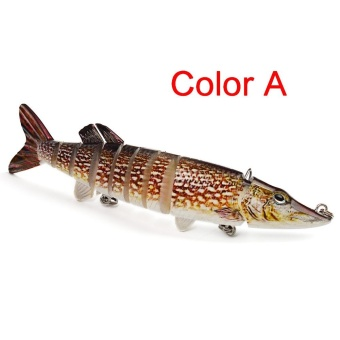 12cm 20g Multi-Jointed Fishing Lure bait plastic bionic bait (A) - intl