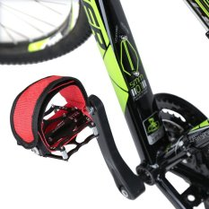 1Pair Fixed Gear Fixie BMX Bike Anti-slip Double Adhesive Straps Pedal Strap Belt Red