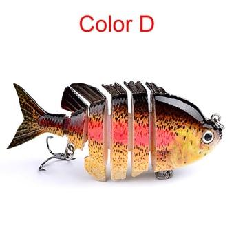 8cm 14g Multi-Jointed Fishing Lure bait plastic bionic bait (D) - intl