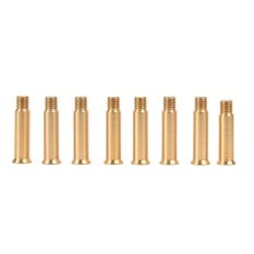 8pcs Aluminum Roller Skate Shoes Single Face Spikes Nail Screws 34mm Gold - intl