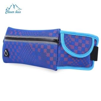 Bang Outdoor Honeycomb Shape Unisex Running Mesh Waist Packbum Bag (Blue) - intl