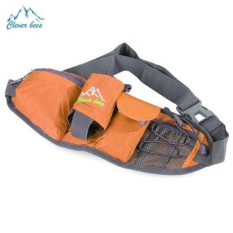 Bang Outdoor Unisex Running Sport Waist Bag With Bottleholder (Orange) - intl