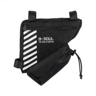 Bang Quick Release Bicycle Triangle Frame Bag Top Tube Storage Bag(Black) - intl
