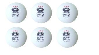 Banh bóng bàn YINHE S40 + Hộp 6 trái (Trắng)