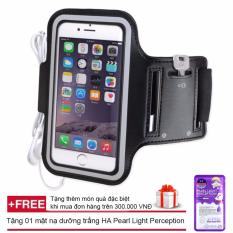 Bao da đeo tay tập thể thao cho điện thoại 5.5 inch + Tặng mặt nạ dưỡng trắng HA PEARL LIGHT PERCEPTION