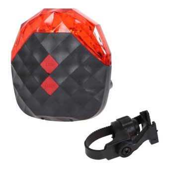 Bike Rear Tail Safety Warning 5 + 2 Laser Lamp Light red - intl