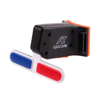 Bike USB Rechargeable Light Police LED Red Blue Taillight - intl