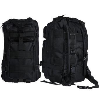 Black Vintage Mens Canvas Backpack - INTL
