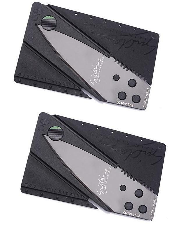 Bộ 2 dao gấp hình thẻ ATM SinClair (Đen) shopping