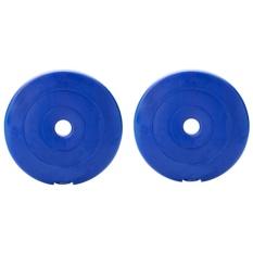 Bộ 2 tạ miếng nhựa 2 kg (Xanh)