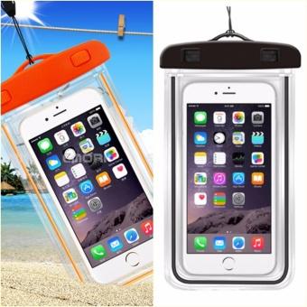 Bộ 2 Túi chống nước an toàn cho điện thoại Iphone 5/6/6Plus (Cam -Đen)