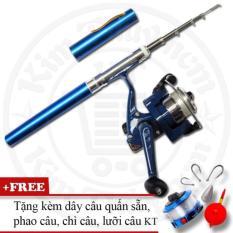 Bộ cần câu cá du lịch (*Kim Thủy) KT Mini M1 Blue 100cm