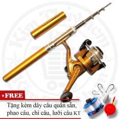 Bộ cần câu cá du lịch (*Kim Thủy) KT Mini M1 Gold 100cm